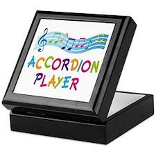 Musical Accordion Player Keepsake Box