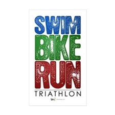 Swim, Bike, Run - Triathlon Decal