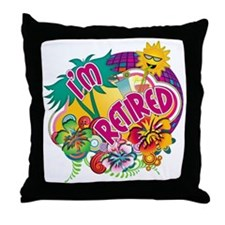 Tropical Retirement Throw Pillow