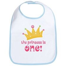 The Princess Is One Bib
