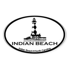Indian Beach NC - Ligththouse Design Decal