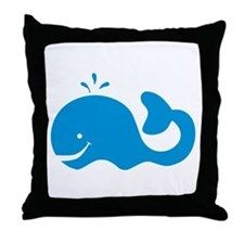 Whale Throw Pillow