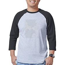 White Three (3) on T-Shirt