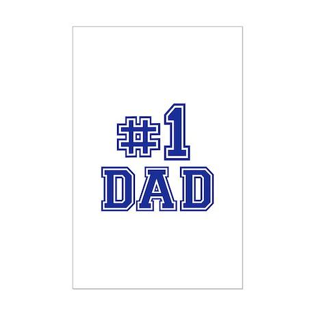No.1 Dad Mini Poster Print
