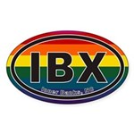 Inner Banks IBX Euro Oval Sticker with Rainbow