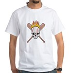 Skull Baseball White T-Shirt