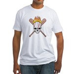 Skull Baseball Fitted T-Shirt