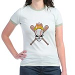 Skull Baseball Jr. Ringer T-Shirt