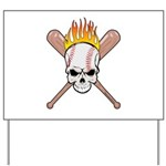 Skull Baseball Yard Sign