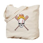 Skull Baseball Tote Bag