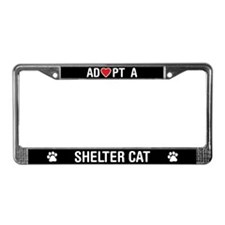 Adopt a Shelter Cat License Plate Frame