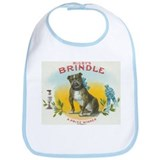 Brindle Bulldog antique label Bib