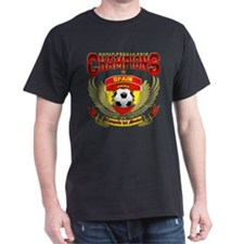 Spain 2010 World Soccer Champions Black T-Shirt