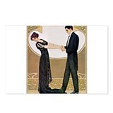 Cute Art deco Postcards (Package of 8)