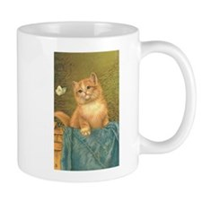 Orange Kitten with Butterfly Mug