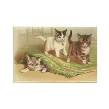 Playful Kittens Rectangle Magnet (100 pack)