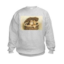 Calico Cat and Kittens in Bas Sweatshirt