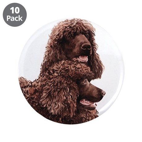 "Irish Water Spaniel 3.5"" Button (10 pack)"