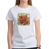Red Rose Bouquet antique labe Tee