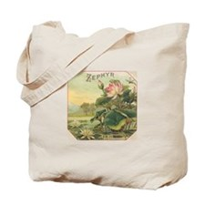 Water Lily antique flower lab Tote Bag