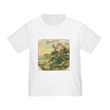 Water Lily antique flower lab T