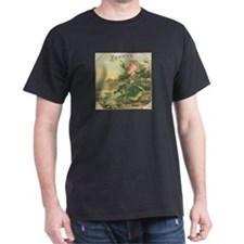 Water Lily antique flower lab T-Shirt
