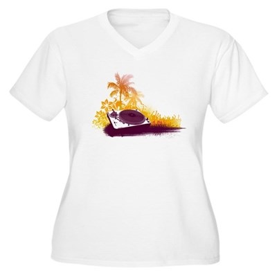 Turntable Beach Women's Plus Size V-Neck T-Shirt