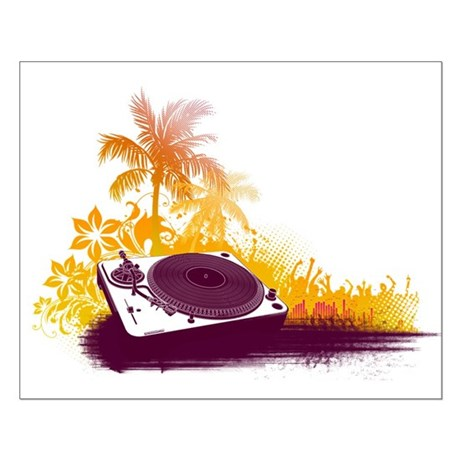 Turntable Beach Small Poster