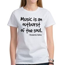 Music Outburst Delius Quote Tee