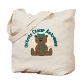 Ovarian Cancer Bear Tote Bag