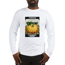Pumpkin antique seed packet Long Sleeve T-Shirt