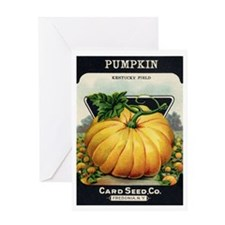 Pumpkin antique seed packet Greeting Card