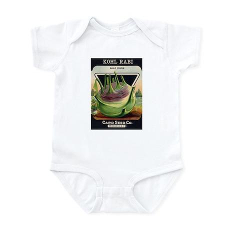 Kohl Rabi antique seed packet Infant Bodysuit