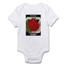 Red Bell Pepper antique seed Infant Bodysuit