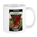 Hot Peppers antique seed pack Mug