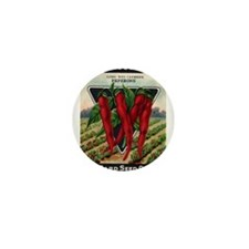 Hot Peppers antique seed pack Mini Button