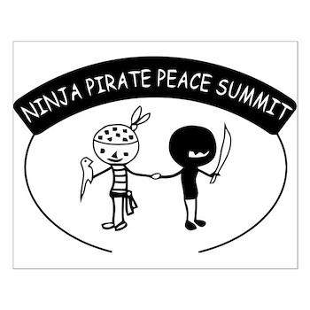 Ninja Pirate Peace Summit Small Poster