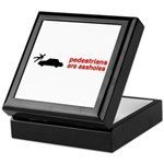 Pedestrains Are Assholes Keepsake Box