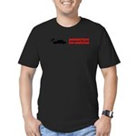 Pedestrains Are Assholes Men's Fitted T-Shirt (dar