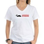 Pedestrains Are Assholes Women's V-Neck T-Shirt