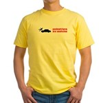 Pedestrains Are Assholes Yellow T-Shirt