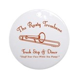 Rusty Trombone Ornament (Round)
