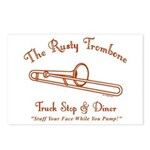 Rusty Trombone Postcards (Package of 8)