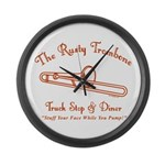 Rusty Trombone Large Wall Clock