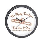 Rusty Trombone Wall Clock