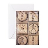 Antique Measure of Man Greeting Card