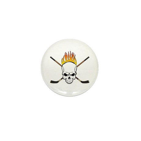 Skull Hockey Mini Button (10 pack)