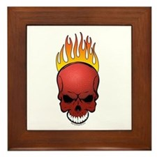 Skull Dodgeball Framed Tile