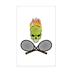 Skull Tennis Posters