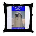 Compton High Bell Tower Throw Pillow